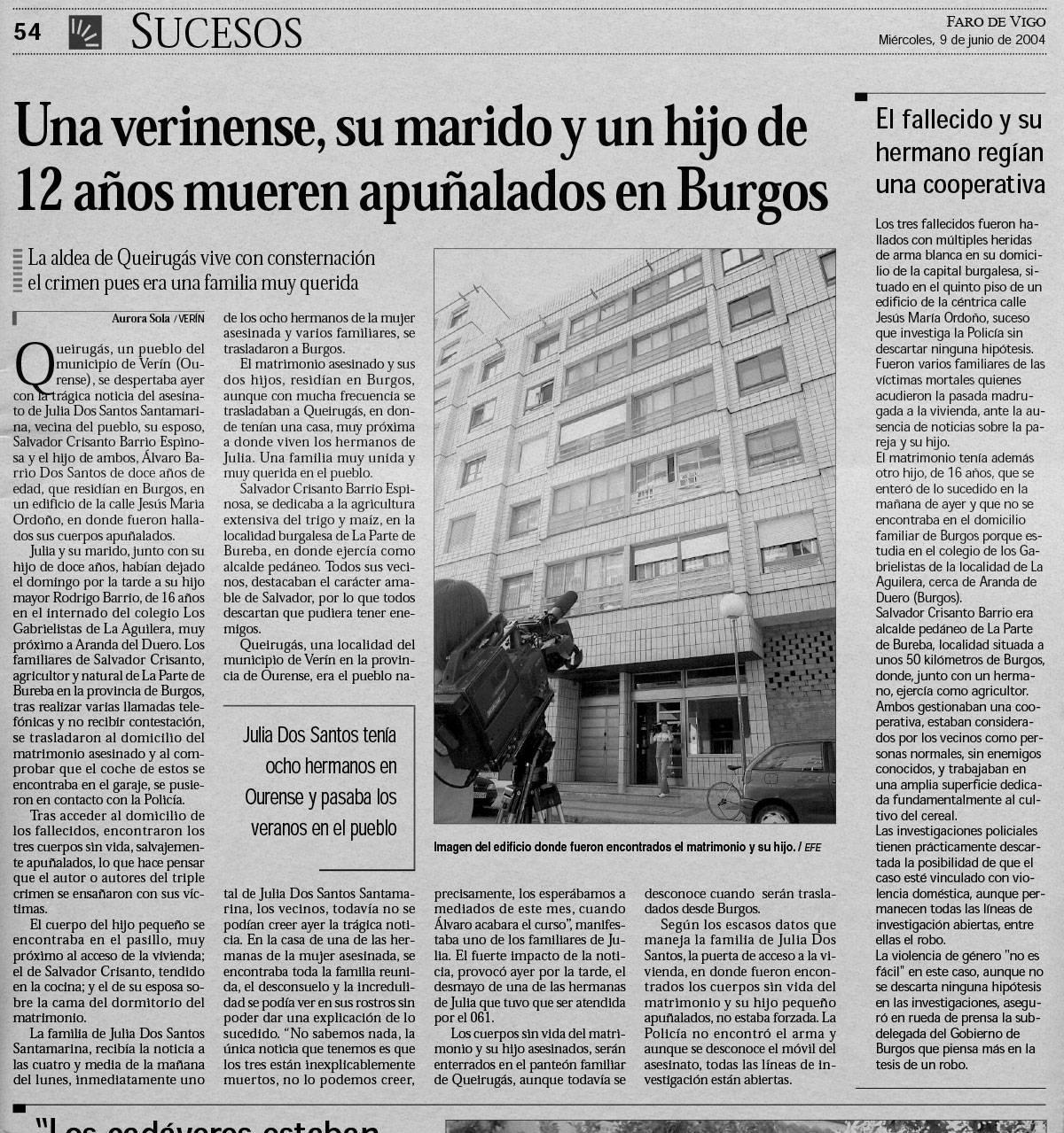 Las 99 puñaladas que acabaron con una familia - Faro de Vigo